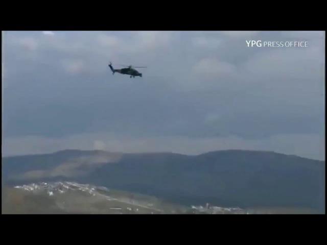 Yerli üretim T129 ATAK helikopterleri Afrinde çatışma alanına dalıyor! | ZeytinDalıHarekatı