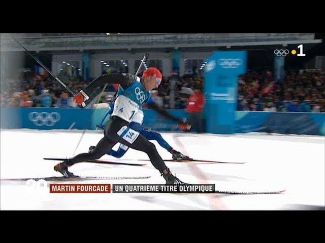 JEUX OLYMPIQUES 2018 en Corée du Sud .. Martin Fourcade .. Quadruple Champion Olympique .. BIATHLON