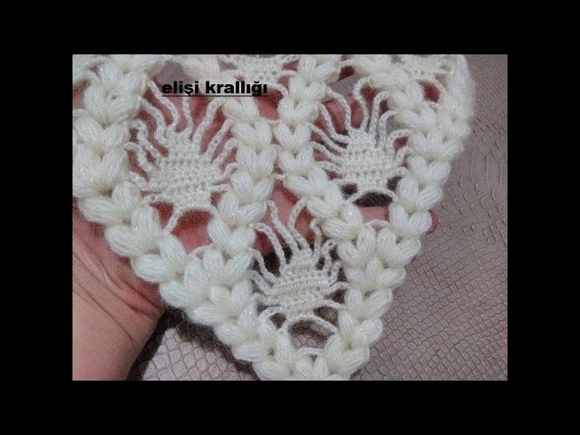 FISTIKLI ÇEYİZLİK ŞAL MODELİ YAPILIŞIThe construction of a pistachio dowry shawl model