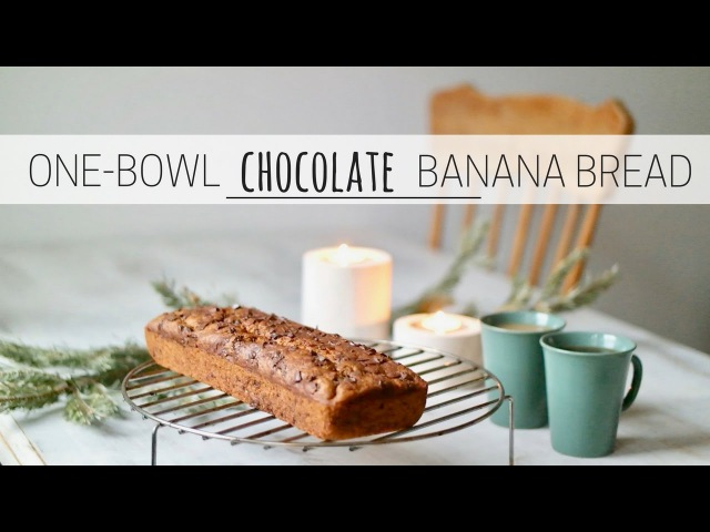 ONE-BOWL CHOCOLATE BANANA BREAD » easy vegan