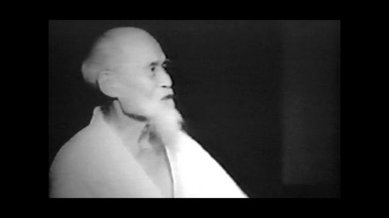Aikido founder Morihei Ueshiba at the Hombu Dojo (1956)