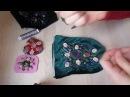 Как вышивать узор из бисера и камей. Как шить и вышивать сумочку с фермуаром.(1часть)