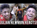 Julian Newman REACTS TO OVERRATED CHANTS GAME! SHUSHES THE CROWD AND POINTS AT SCOREBOARD! OSN