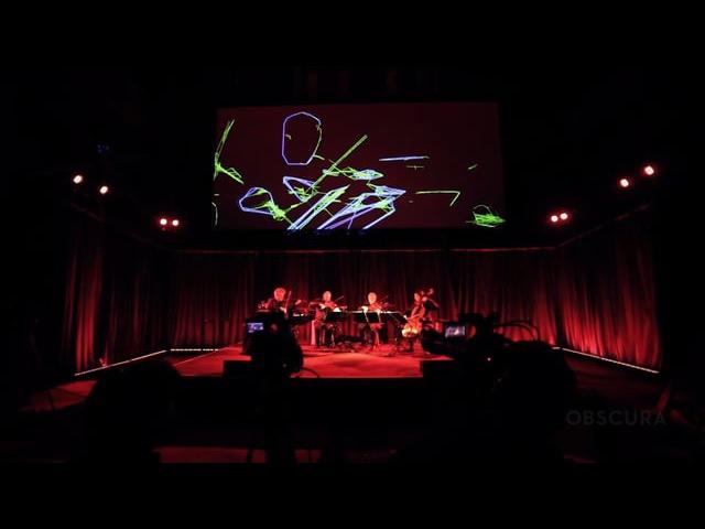 Trevor Paglen's Sight Machine with Kronos Quartet and Obscura Digital
