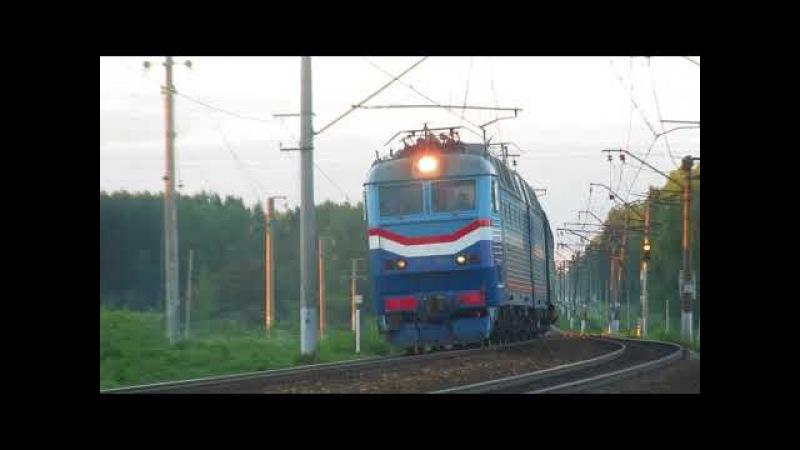 Электровоз ЧС7-058 с поездом№005Я Украина Москва-Киев перегон Бекасово 1-Нара 3.07.2017