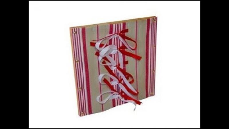 Монтессори-материал «Рамка с бантами» (№13, МИМП)