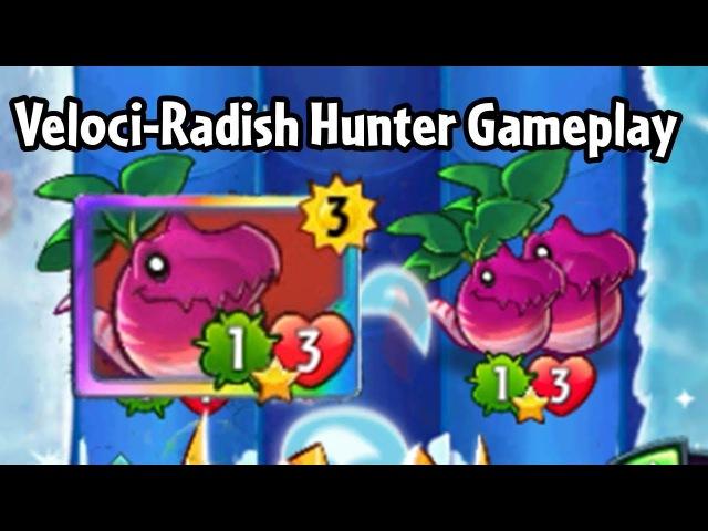 Veloci-Radish Hunter Gameplay (Triassic Beta) | Plants vs. Zombies Heroes™