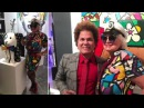 Romero Britto and Valentina Aved villavalentina.123look
