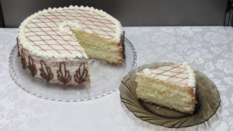 Домашний торт Белоснежка. Очень простой и вкусный торт к чаю или на праздник