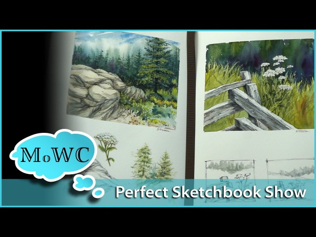 The Perfect Sketchbook Show Piece Demo in Watercolor