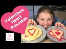 How to make Valentines Day Heart Pancakes | Kids Cooking | Kids Baking | KTBakes Youtube Channel