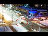 ДТП в Серпухове. Вынесло с разворотом на снег... 26 января 2018г.