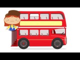 A Doutora McWheelie chegou a Londres🚌 Um ônibus vermelho. Desenhos animados de carros para crianças
