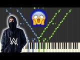 Faded - Alan Walker INSANE Piano Tutorial (SynthesiaSheet Music)