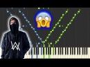 Faded - Alan Walker [INSANE Piano Tutorial] (Synthesia/Sheet Music)