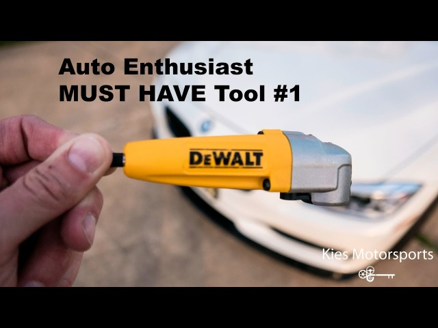 Auto Enthusiast MUST HAVE Tool 1 (the DeWalt 90 degree Drill Adapter!)