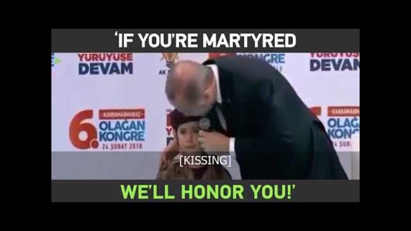 'If you're martyred, we'll honor you!' – Erdogan sobbing girl having awkward moment
