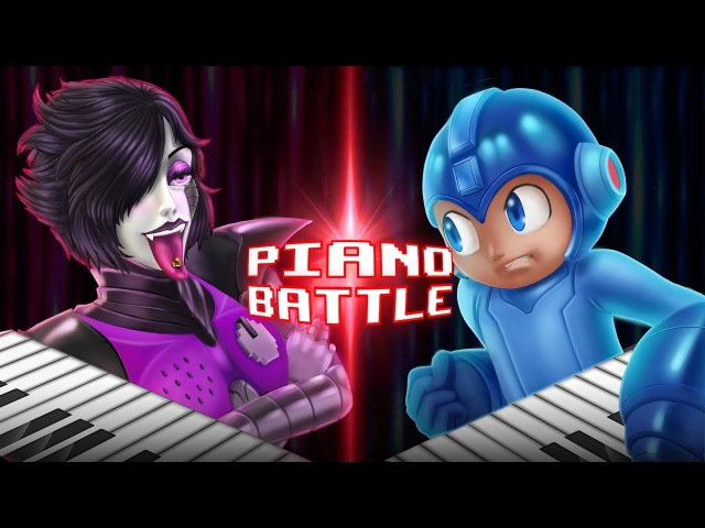 Megaman vs Mettaton Piano Battle (Undertale vs Megaman)