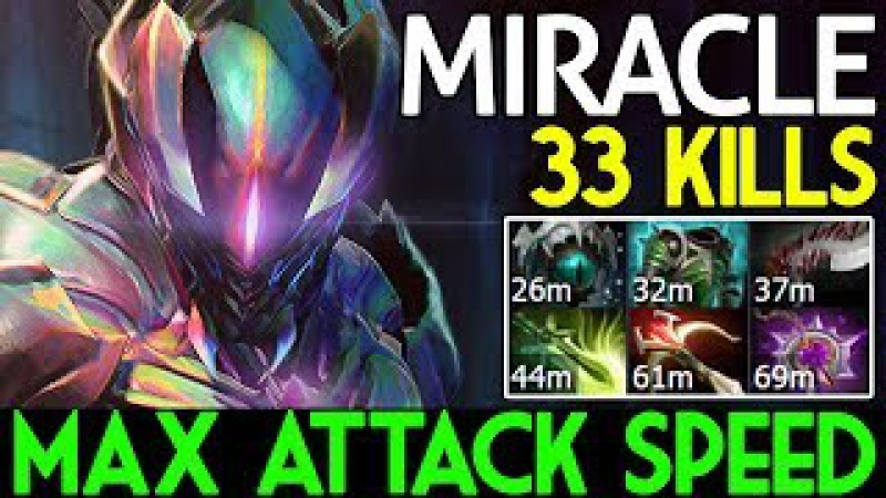 WTF META ! Max Attack Speed | Night Stalker Carry 33 KILLS by Miracle- Dota 2 7.07