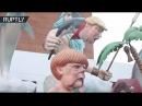 Трамп-рыба и русалка Меркель: фигуры политиков на карнавале в Торриш-Ведраше