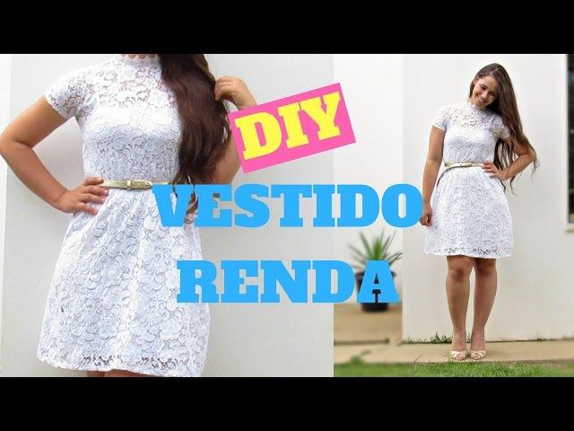 DIY VESTIDO DE RENDA COM FORRO AVULSO - MUITO FÁCIL | ELLEN BORGES