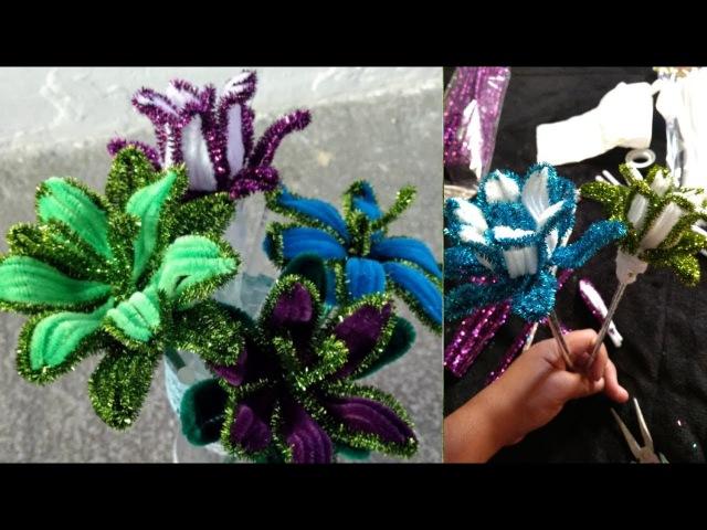 Цветы из синельной проволоки