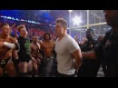 Arrests are made during the chaotic aftermath of the WWE Triple Threat Match Hell in a Cell 2011
