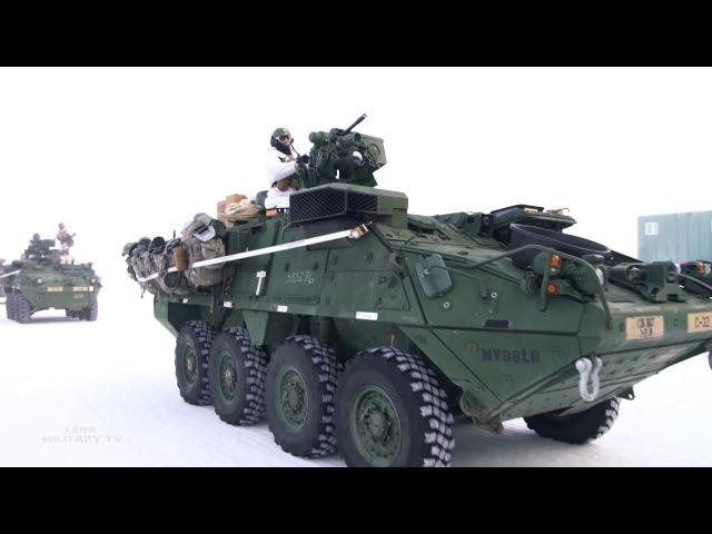 Морпехи в снегу Учения Arctic Edge 18 Армии США на Аляске 2018 год