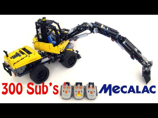 [SPECIAL 300] [MOC] Lego Technic MECALAC 12 MTX - 9 Motors