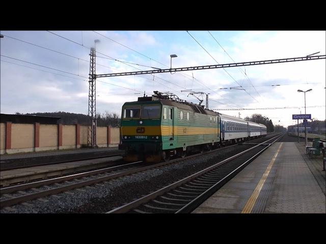 Šocení | Vlaky ve stanici Grygov 29.12.2017