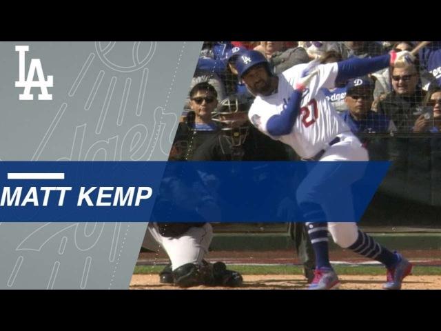 CWS@LAD: Matt Kemp smashes a three-run homer in return to Dodgers