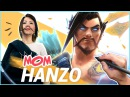 TURNING MY MOM INTO HANZO FROM OVERWATCH!