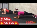 5 Minute Abs Workout for Beginners - 5 Min Easy Beginner Ab Workout for Women & Men