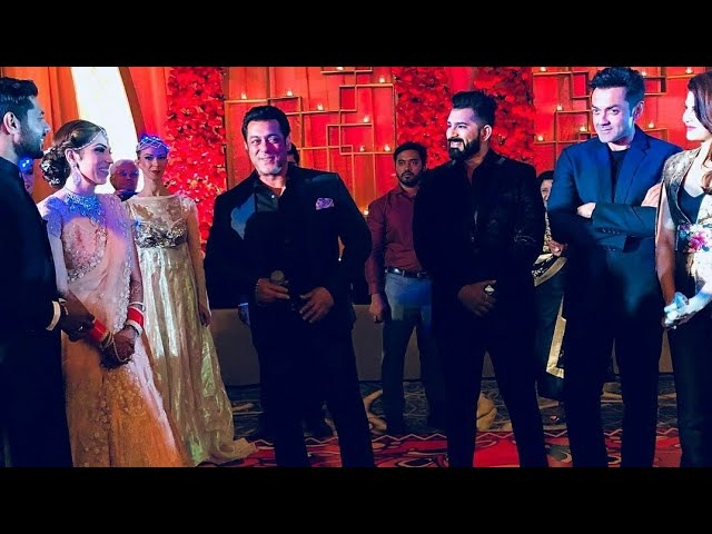 Salman Khan with Jacqueline and Bobby Deol at a Wedding Reception in Abu Dhabi