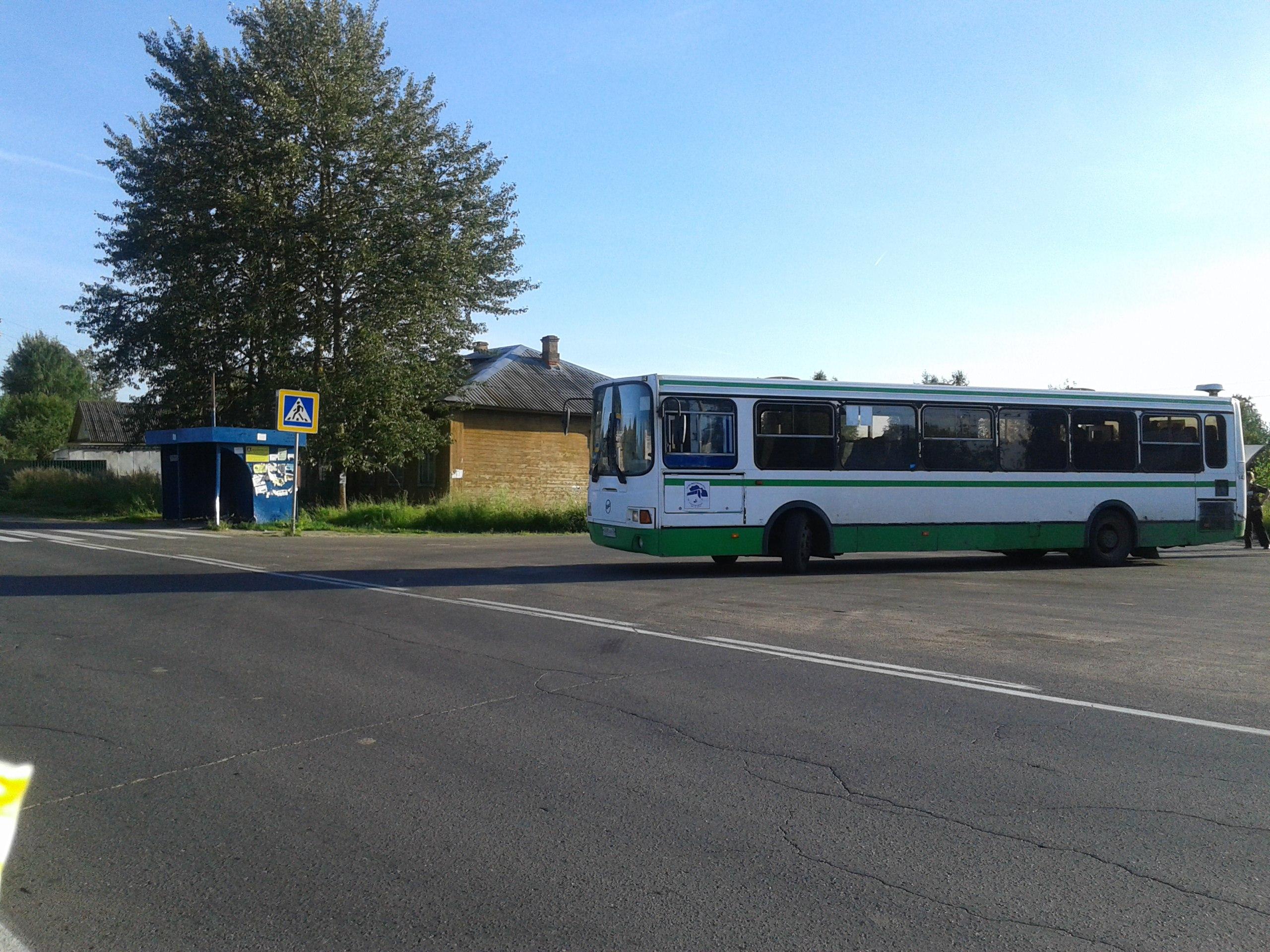 Автобус №104к. Конечная. д.Михайловское