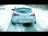 NeX® Opel Astra J GTC. ЭКСКЛЮЗИВ! Отвод раздвоенный с 4-мя насадками. Лучшее для СПОРТ хетчбека