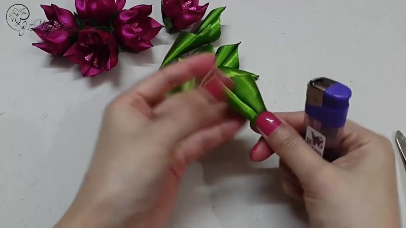 ✾ ❀ ❁ D.I.Y. Kanzashi Tulip Flower _ MyInDulzens ❁ ❀ ✾