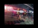 Начало пожара в Кемерово