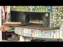 Acrobatic Pizza Maker Seen in Italy. Classic Pizza form Naples. Italian Street Food