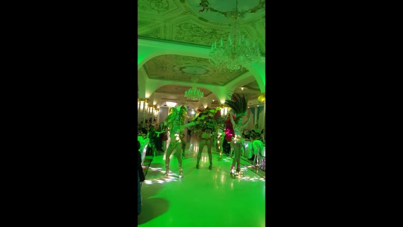 Бразильский Карнавал на свадьбе в ресторане