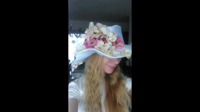 Цветочная шляпа Принцесса Весна