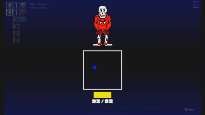 Бой с underswap papyrus(sans simulator)