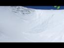 Снегоход спровоцировал сход лавины у ледника Романтиков, на массиве Рай-Из, Полярный Урал.