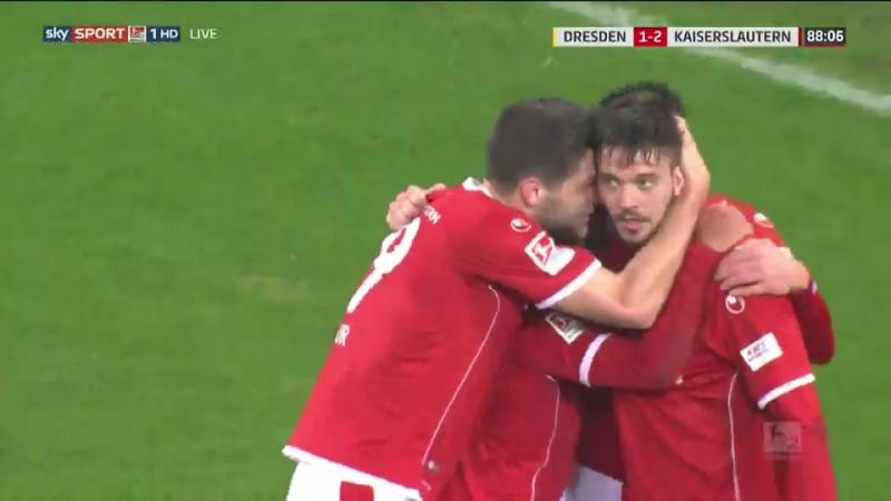Динамо Дрезден 1:2 Кайзерслаутерн