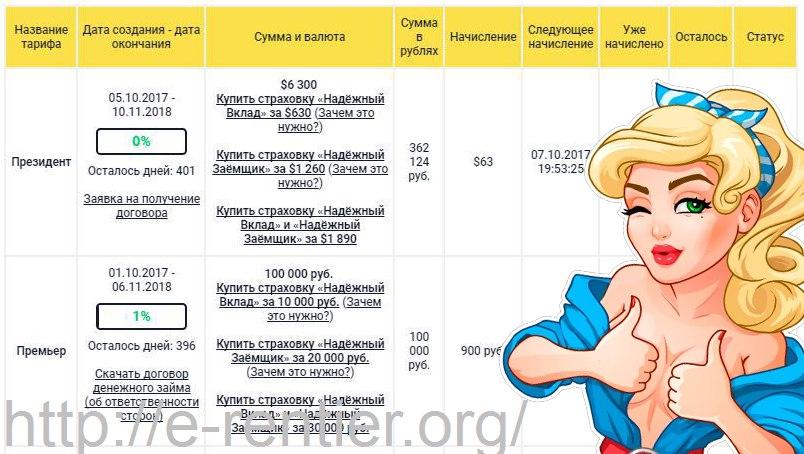 ДЕпозит в Кэшбери на 100.000 рублей и 6000 долларов