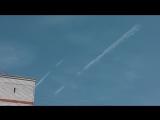 Химтрейлы - ускоренное видео