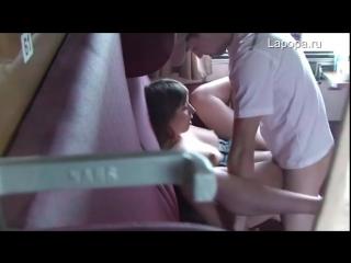 С подругой в поезде. (скрытая камера) (секс порно домашнее порево трахает попка сиськи) 18+