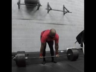 Майк Итон, тяга 345 кг на 5 раз