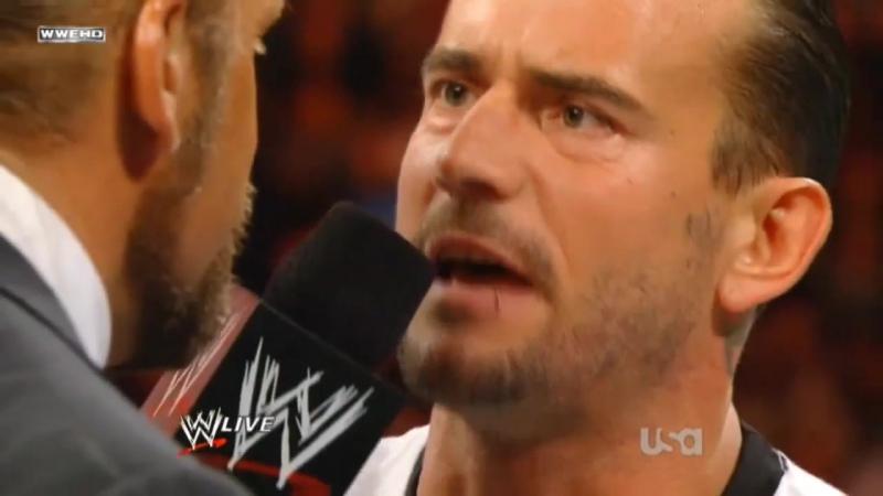 Словесная война Трипл Эйча и СМ Панка (WWE Monday Night RAW 12.09.2011) -- Русская озвучка