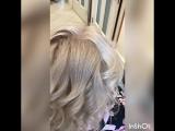 Снежно пепельный блонд 😍